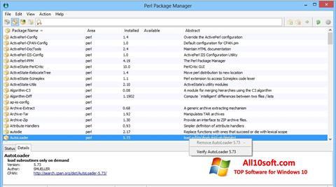 Képernyőkép ActivePerl Windows 10