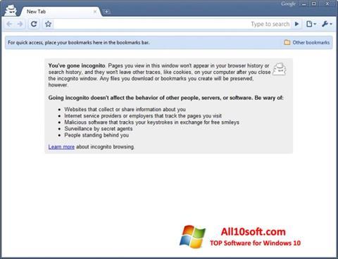Képernyőkép Google Chrome Beta Windows 10
