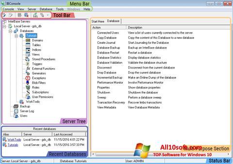 Képernyőkép InterBase Windows 10