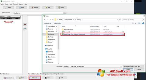 Képernyőkép ArtMoney Windows 10