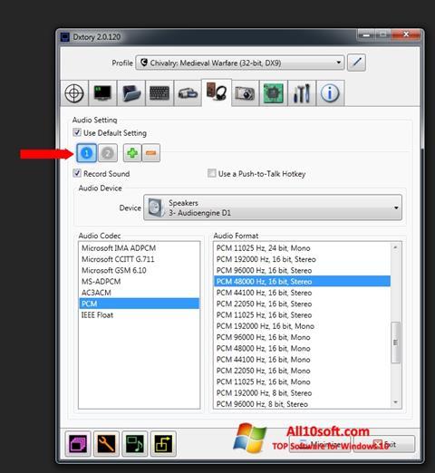 Képernyőkép Dxtory Windows 10