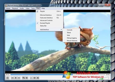 Képernyőkép VLC Media Player Windows 10