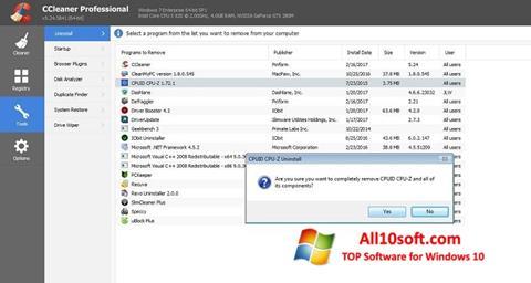 Képernyőkép CCleaner Professional Plus Windows 10