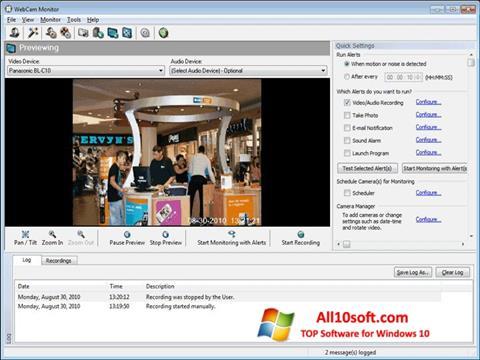 Képernyőkép WebCam Monitor Windows 10