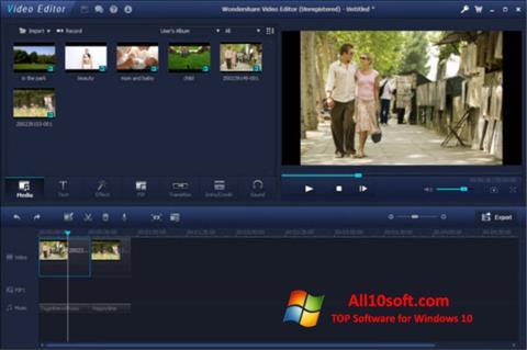 Képernyőkép Wondershare Video Editor Windows 10