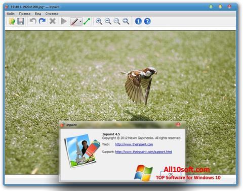 Képernyőkép Inpaint Windows 10