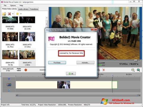 Képernyőkép Bolide Movie Creator Windows 10