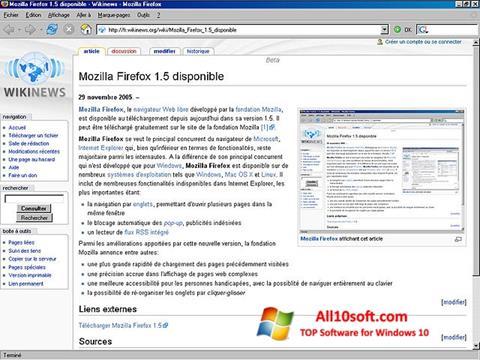 Képernyőkép Mozilla Firefox Windows 10
