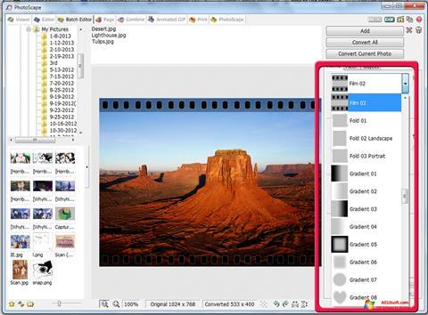 Képernyőkép PhotoScape Windows 10