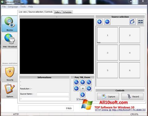 Képernyőkép webcamXP Windows 10