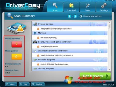 Képernyőkép Driver Easy Windows 10