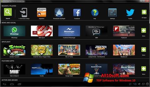 Képernyőkép BlueStacks Windows 10
