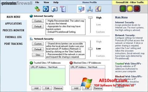 Képernyőkép Privatefirewall Windows 10