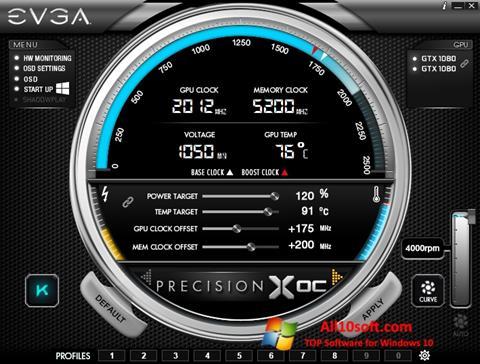 Képernyőkép EVGA Precision Windows 10