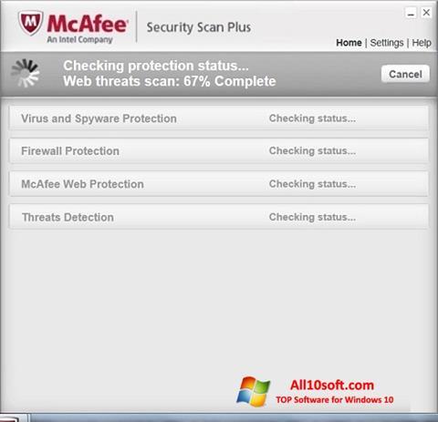 Képernyőkép McAfee Security Scan Plus Windows 10