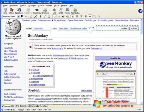 Képernyőkép SeaMonkey Windows 10