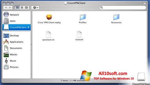 Képernyőkép Cisco VPN Client Windows 10