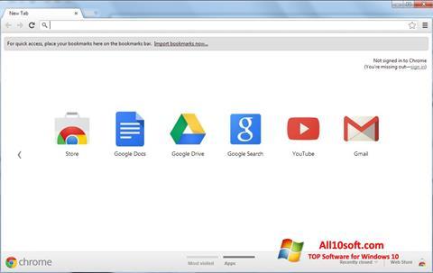 Képernyőkép Google Chrome Windows 10