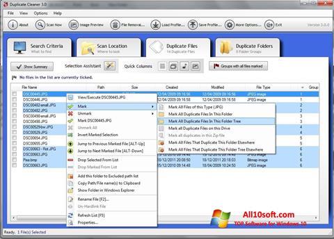 Képernyőkép Duplicate Cleaner Windows 10