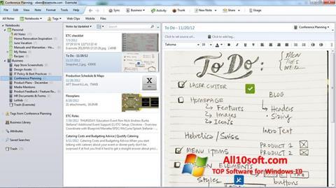 Képernyőkép Evernote Windows 10