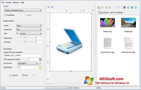Képernyőkép WinScan2PDF Windows 10