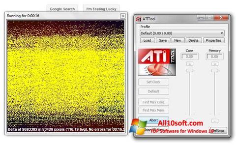 Képernyőkép ATITool Windows 10
