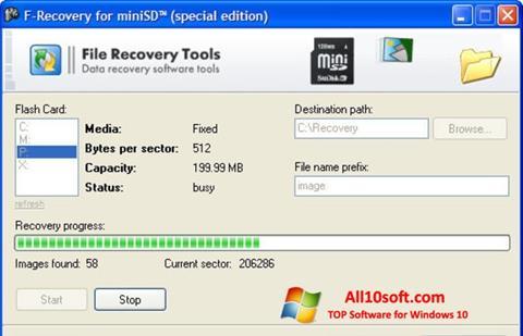 Képernyőkép F-Recovery SD Windows 10