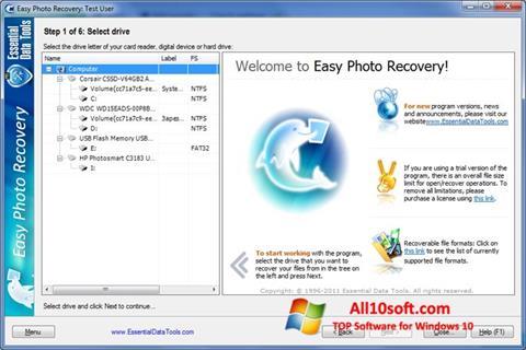 Képernyőkép Easy Photo Recovery Windows 10