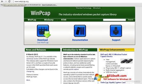 Képernyőkép WinPcap Windows 10