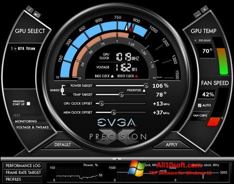 Képernyőkép EVGA Precision X Windows 10
