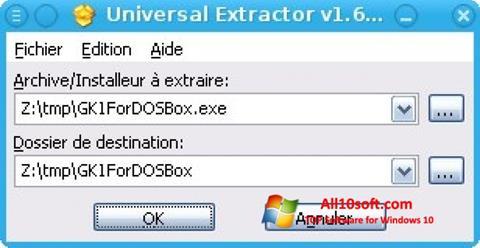 Képernyőkép Universal Extractor Windows 10