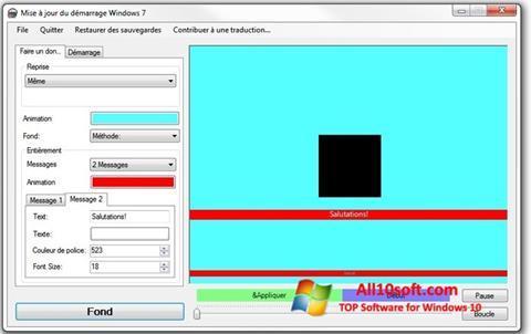 Képernyőkép Boot Updater Windows 10