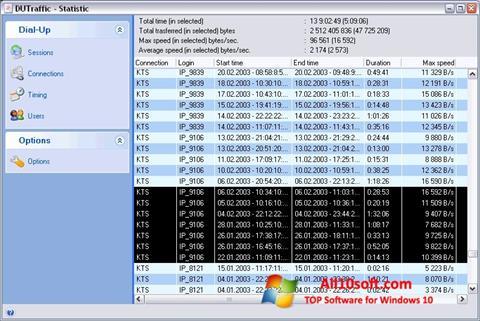Képernyőkép DUTraffic Windows 10