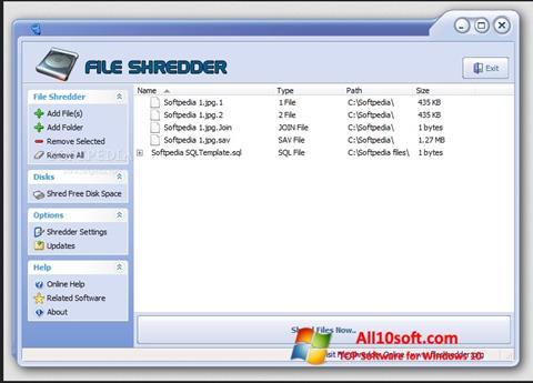Képernyőkép File Shredder Windows 10