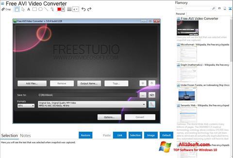 Képernyőkép Free AVI Video Converter Windows 10