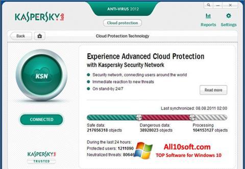 Képernyőkép Kaspersky Free Antivirus Windows 10