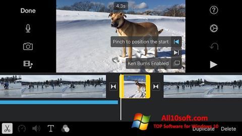 Képernyőkép iMovie Windows 10