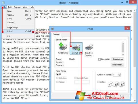 Képernyőkép doPDF Windows 10
