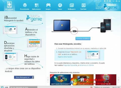 Képernyőkép Mobogenie Windows 10