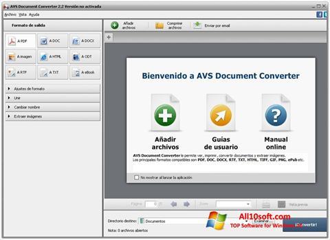 Képernyőkép AVS Document Converter Windows 10
