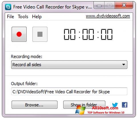 Képernyőkép Free Video Call Recorder for Skype Windows 10