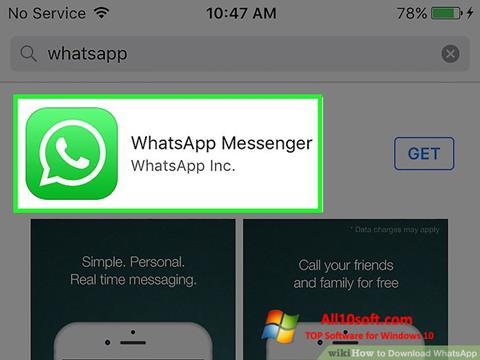 Képernyőkép WhatsApp Windows 10