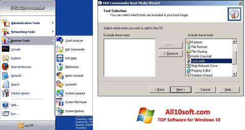 Képernyőkép ERD Commander Windows 10