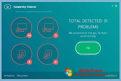 Képernyőkép Kaspersky Cleaner Windows 10