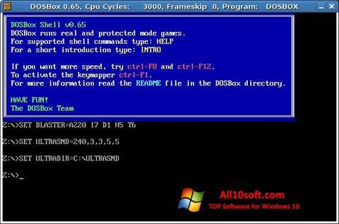 Képernyőkép DOSBox Windows 10