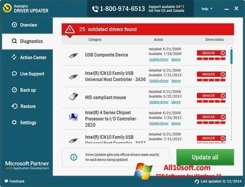 Képernyőkép Auslogics Driver Updater Windows 10