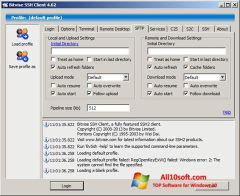 Képernyőkép Bitvise SSH Client Windows 10