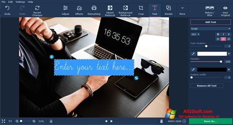 Képernyőkép Movavi Photo Editor Windows 10