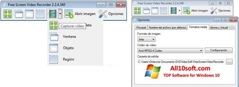 Képernyőkép Free Screen Video Recorder Windows 10