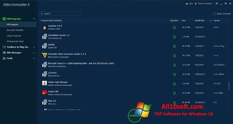 Képernyőkép IObit Uninstaller Windows 10